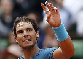 """Antrasis """"Roland Garros"""" etapas: Rafaelis Nadalis – Facundo Bagnisas"""