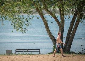 Sutvarkytas Kauno marių paplūdimys