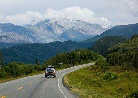 Užburianti Šiaurės Norvegijos gamta