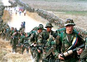 Kolumbijoje pusę amžiaus trunkantis pilietinis karas su marksistų sukilėliais FARC