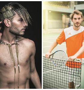 """Modeliu tapęs teniso treneris Simas Kučas: """"Aš toks – mėgstantis nestandartinius sprendimus"""""""