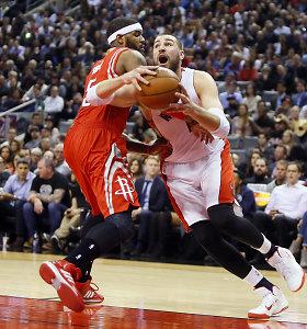 """Dviejų lietuvių akistatos NBA nesulaukta, """"Raptors"""" palaužė """"Rockets"""" pasipriešinimą"""