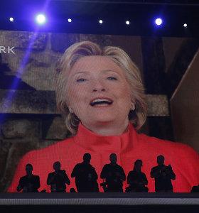 H.Clinton užsitikrino vietą istorijoje, tapusi pirmąja į prezidento postą iškelta kandidate moterimi