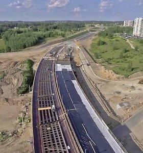 Vilniaus Vakarinio aplinkkelio Pavilnionių viaduko betonavimo darbai