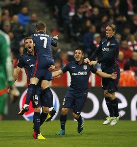 """Žygis tęsiasi: du neįmušti baudiniai, """"Bayern"""" pergalė ir """"Atletico"""" bilietas į finalą"""