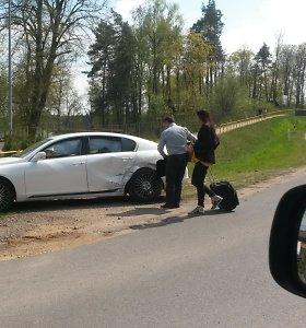 """Prabangus Petro Gražulio """"Lexus"""" pateko į eismo įvykį Lenkijoje"""