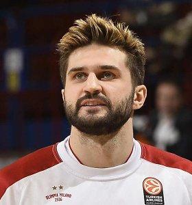 """Milano klubas su Linu Kleizu Eurolygoje nusileido Pirėjo """"Olympiakos"""""""