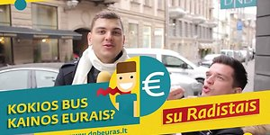 Ar žinome kainas eurais? Gatvės interviu Vilniuje su Radistais