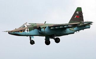 Vos už 100 km nuo Vilniaus sudužo Baltarusijos karinis lėktuvas Su-25