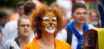 Mokslo metų pradžią VU studentai šventė Vilniaus gatvėse