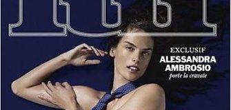 """""""Victoria's Secret"""" angelas Alessandra Ambrosio apsinuogino vyrams skirtam žurnalui"""