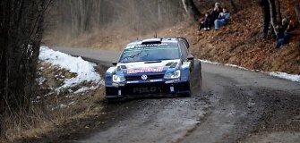 WRC Monte Karlo ralyje toliau pirmauja Sebastienas Ogier