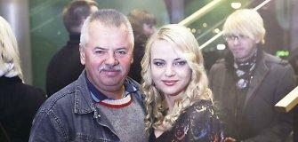 Pasveikinti Mariaus Jampolskio atvyko ne tik žmona Renata, bet ir uošvis Viktoras