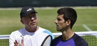 Legendinis Borisas Beckeris tikisi ir toliau treniruoti Novaką Džokovičių