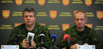 """Krašto apsaugos ministerijoje pristatytos Lietuvoje vyksiančios tarptautines pratybos """"Geležinis kardas 2014""""."""