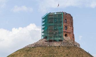 Prasidėjo Gedimino pilies fasado tvarkymo darbai