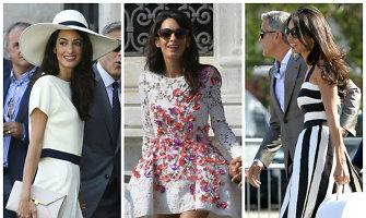 George'o Clooney nuotaka Amal Alamuddin per savo vestuvių savaitgalį pakerėjo mados kritikus