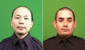 Niujorke nušovęs du policininkus vyras vėliau ginklą nukreipė į save