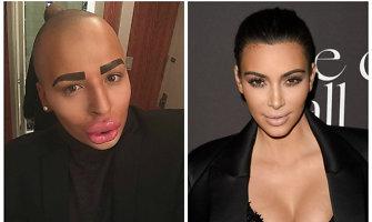 Dėl Kim Kardashian pamišęs jaunuolis išleido 150 tūkst. dolerių, kad būtų panašus į ją