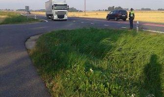 Marijampolės pareigūnai per tris reido valandas sulaikė du girtus vilkikų vairuotojus