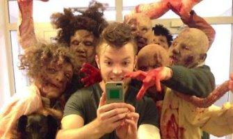 Šuns-voro kūrėjas SA Wardęga parodė tikrą siaubą Helovino proga – gatvėje žmones ėdančius zombius