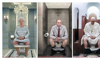 Drąsiame italų fotografės projekte – ant klozeto sėdintys pasaulio lyderiai