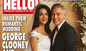Amal Alamuddin paaiškino, kodėl savo vestuvinę suknelę patikėjo kurti Oscarui De La Rentai