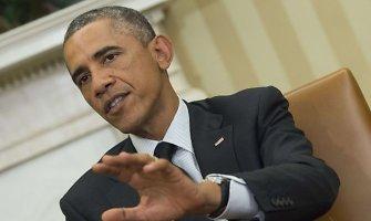 Barackas Obama teigia nesiekiantis paskelbti naujų sankcijų Rusijai dėl Ukrainos