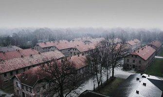 Vaiduokliški vaizdai: kaip Aušvico koncentracijos stovykla dabar atrodo iš viršaus