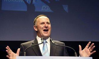 Naujosios Zelandijos premjeras skelbia pergalę rinkimuose