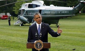 JAV prezidentas Barackas Obama apkaltino Rusiją dėl karo Ukrainoje