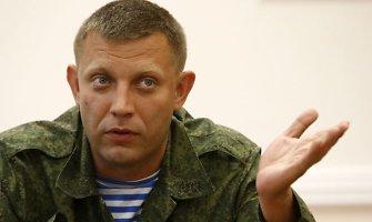Aleksandras Zacharčenka: pensijas Donecko gyventojams sumokės Rusija