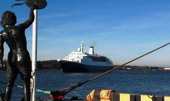 """Kruizinį lainerį """"Marco Polo"""" į Klaipėdą atvijo Švedijoje siaučianti audra"""