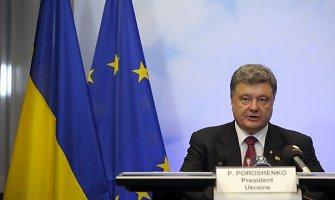Ukrainos prezidentas Petro Porošenka: artėjama prie plataus masto karo su Rusija
