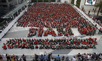 Bankoke mažieji Kalėdų Senelio padėjėjai užregistravo naują rekordą