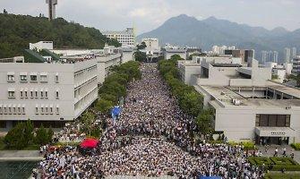 Honkonge tūkstančiai studentų pradėjo savaitę truksiantį streiką