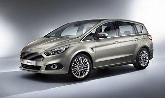 """Naująjį """"Ford S-MAX"""" gamintojas pristato kaip elegantišką inovatorių vienatūrių rinkoje"""