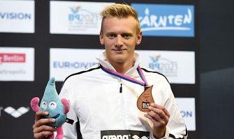 Giedrius Titenis Europos čempionate iškovojo antrąjį bronzos medalį