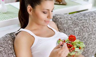 Vaisiai ir daržovės nėščiosios mityboje