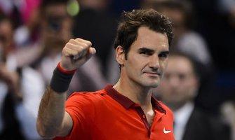 Rogeris Federeris nugalėjo Grigorą Dimitrovą ir pateko į pusfinalį Bazelyje