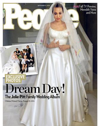 Jaunavedžiai Angelina Jolie ir Bradas Pittas parodė savo vestuvių nuotraukas