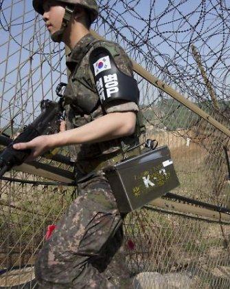 Šiaurės Korėjos ir Pietų Korėjos kariai susišaudė prie sausumos sienos