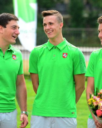 Nandzingo jaunimo olimpinėse žaidynėse kūjo metikas Tomas Vasiliauskas kovos dėl medalio