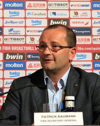 """FIBA vadovas Patrickas Baumannas nenusileis: """"Himnams skirtas laikas tikrai nesikeis"""""""