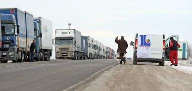 Pasienio postuose su Baltarusija – Rusijos vilkikų eilės