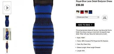 Interneto hitu tapusi suknelė taip pat bus išleista baltos ir auksinės spalvų