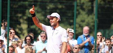 """Laurynas Grigelis antrą kartą šį sezoną laimėjo """"Futures"""" turnyro dvejetų varžybas"""