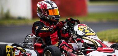 Dramatiškame Europos kartingo čempionato finale Justas Jonušis užėmė 42-ą vietą