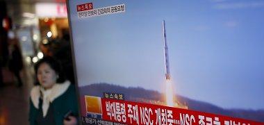 JAV Senato lyderiai žada skubiai priimti įstatymą dėl naują sankcijų Šiaurės Korėjai