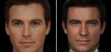 """Kaip atrodytų """"tikrieji"""" Briusas Veinas ir Džeimsas Bondas?"""